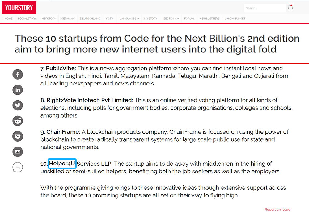 These 10 startups from Code for the Next Billion's 2nd edition aim to bring more new internet users into the digital fold
