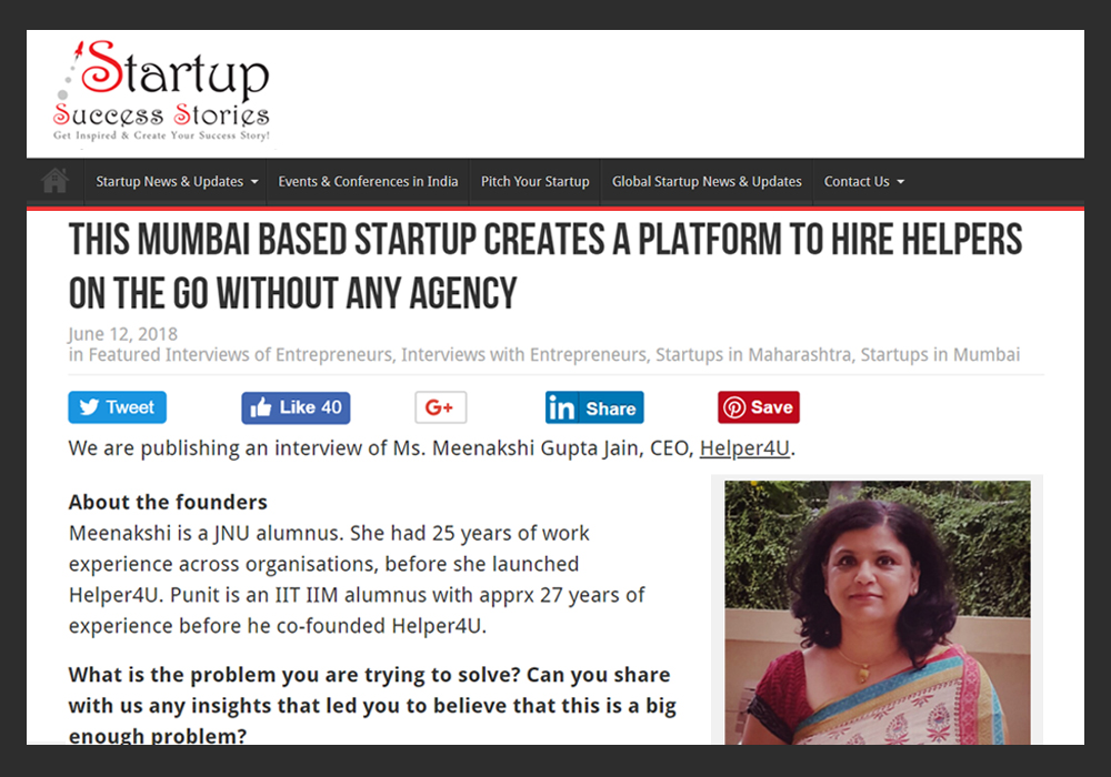 This Mumbai Based Startup Creates a Platform to Hire Helpers on the Go Without Any Agency