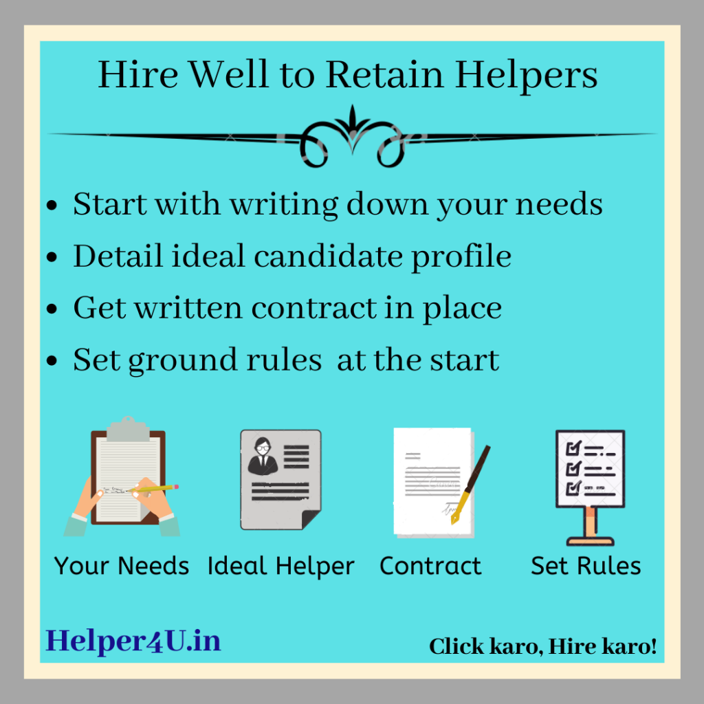 Hire well to retain Helper, Hire Verified Domestic and Office helpers Online