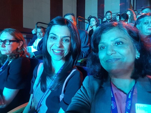 Meenakshi with Shirin Bhan at GES 2017