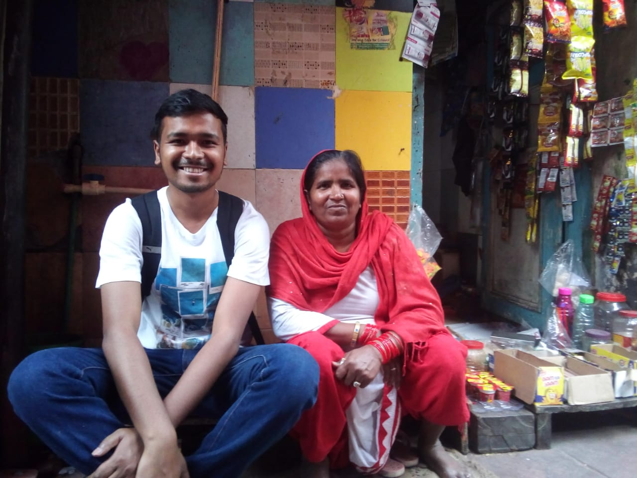 Helper4U team in Delhi Slum