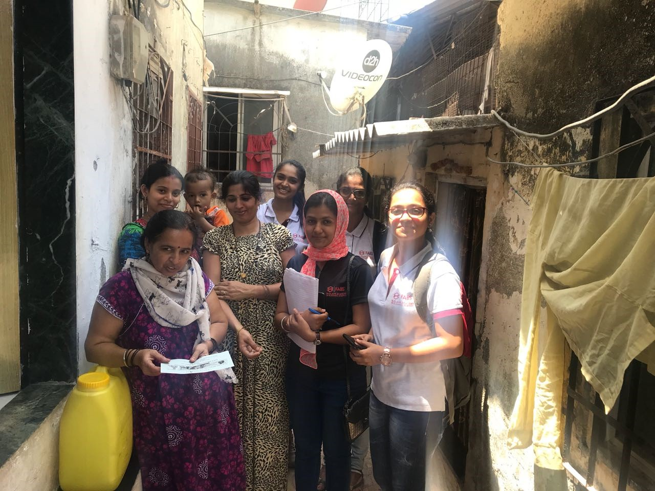 Helper4U team in Mumbai slum